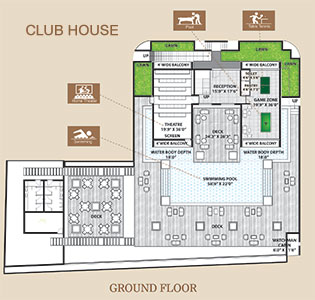 Clubhouse ground floor layout